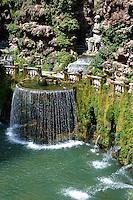 The oval fountain, 1567, Villa d'Este, Tivoli, Italy - Unesco World Heritage Site.
