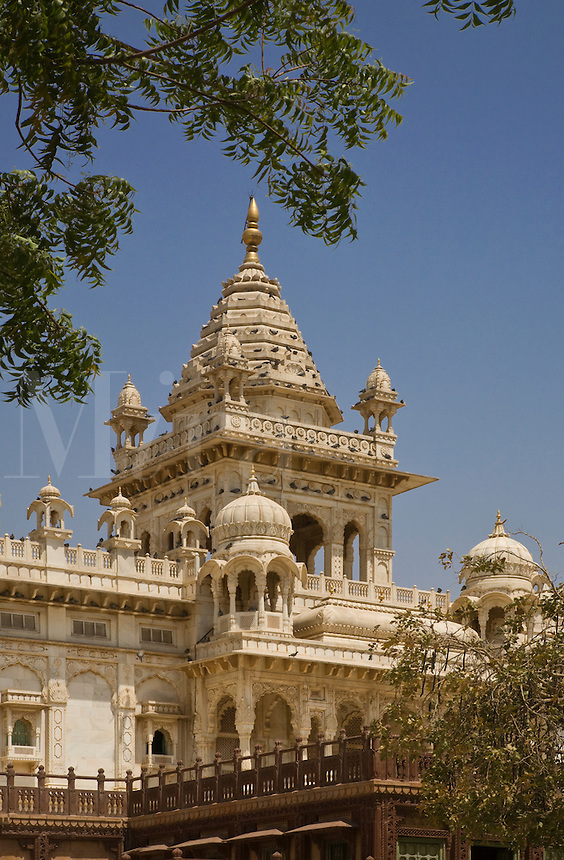 The white marble JASWANT THANDA was built in 1899 as a memorial to MAHARAJA JASWANT SINGH ll - JOHDPUR, RAJASTHAN, INDIA