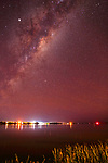 Milky Way over Goolwa and Lower Murray River, South Australia