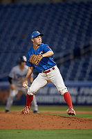 Clearwater Threshers relief pitcher Seth McGarry (38) during a Florida State League game against the Tampa Tarpons on April 18, 2019 at Spectrum Field in Clearwater, Florida.  Clearwater defeated Tampa 10-3.  (Mike Janes/Four Seam Images)