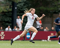 NEWTON, MA - AUGUST 29: Emily Knous #10 of Boston College during a game between University of Connecticut and Boston College at Newton Campus Soccer Field on August 29, 2021 in Newton, Massachusetts.