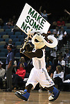 Reno Bighorns mascot Bruno entertains the crowd during a basketball game against the Idaho Stampede on Sunday, April 1, 2012 in Reno, Nev. Idaho won 108-99..Photo by Cathleen Allison