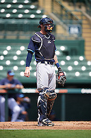 Tampa Bay Rays catcher Jonah Heim (51) during an Instructional League game against the Baltimore Orioles on September 19, 2016 at Ed Smith Stadium in Sarasota, Florida.  (Mike Janes/Four Seam Images)