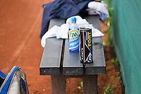Netherlands, Amstelveen, August 21, 2015, Tennis,  National Veteran Championships, NVK, TV de Kegel,  bench<br /> Photo: Tennisimages/Henk Koster