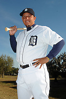 Feb 21, 2009; Lakeland, FL, USA; The Detroit Tigers infielder Miguel Cabrera (24) during photoday at Tigertown. Mandatory Credit: Tomasso De Rosa/ Four Seam Images