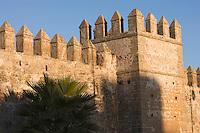Afrique/Afrique du Nord/Maroc/Rabat: la kasbah des Oudaïas la muraille