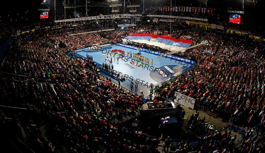SERBIA, Belgrade: General overview of Belgrade Arena during Women's World Handball Championship final match between Brazil and Serbia in Belgrade, Serbia on Sunday, December 22, 2013. (credit image & photo: Pedja Milosavljevic / STARSPORT / +318 64 1260 959 / thepedja@gmail.com)