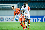 Adelaide United Forward Papa Babacar Diawara (R) fights for the ball with Jeju United Midfielder Moon Sangyun (L) during the AFC Champions League 2017 Group Stage - Group H match between Jeju United FC (KOR) vs Adelaide United (AUS) at the Jeju World Cup Stadium on 11 April 2017 in Jeju, South Korea. Photo by Marcio Rodrigo Machado / Power Sport Images