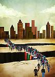 Illustrative image of people bridging gap
