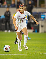 Stanford, CA - December 8, 2019: Sophia Smith, Madison Haley at Avaya Stadium. The Stanford Cardinal won their 3rd National Championship, defeating the UNC Tar Heels 5-4 in PKs after the teams drew at 0-0.