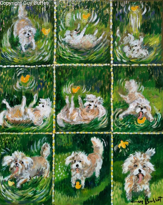 "Example Acrylic on Canvas ""Cinematique"" <br /> 9 Panels-16x20"
