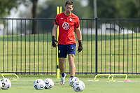 FRISCO, TX - JULY 20: Aron Hyde of the United States during a training session at Toyota Soccer Center FC Dallas on July 20, 2021 in Frisco, Texas.