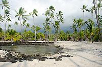 The grounds at Pu'uhonua o Honaunau (City of Refuge), South Kona, Big Island.