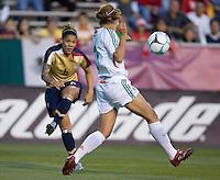 Natasha Kai shoots on goal..International friendly, USA Women vs Mexico, Albuquerque, NM,.October 20, 2006..USA 1, Mexico 1.