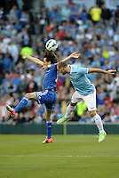 Yossi Benayoun (30) Chelsea, Pablo Zabaleta (5) Manchester City go up for a header..Manchester City defeated Chelsea 4-3 in an international friendly at Busch Stadium, St Louis, Missouri.
