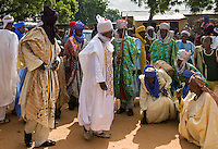 Alh Suleiman Muhammed Mera, District Head of Lailaba- Recieving Homege from his people