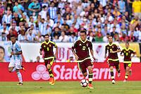 Foxborough, MA - Saturday June 18, 2016: Luis Manuel Seijas during a Copa America Centenario quarterfinal match between Argentina (ARG) and Venezuela (VEN)  at Gillette Stadium.