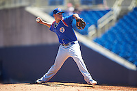 South Bend Cubs relief pitcher Scott Effross (32) during a game against the Lake County Captains on July 27, 2016 at Classic Park in Eastlake, Ohio.  Lake County defeated South Bend 5-4.  (Mike Janes/Four Seam Images)