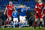 St Johnstone v Aberdeen…27.01.21   McDiarmid Park   SPFL<br />Glenn Middleton reacts after seeing his late shot saved by Joe Lewis<br />Picture by Graeme Hart.<br />Copyright Perthshire Picture Agency<br />Tel: 01738 623350  Mobile: 07990 594431
