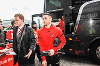 Fleetwood Town's forward Wes Burns (7) arriving for the Sky Bet League 1 match between Doncaster Rovers and Fleetwood Town at the Keepmoat Stadium, Doncaster, England on 6 October 2018. Photo by Stephen Buckley / PRiME Media Images.