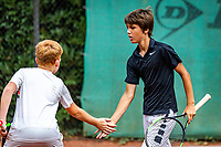 Hilversum, Netherlands, Juli 31, 2019, Tulip Tennis center, National Junior Tennis Championships 12 and 14 years, NJK, Boys Doubles: Lloyd Koster (NED) and Kaj Glaser (NED)<br /> Photo: Tennisimages/Henk Koster