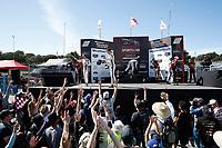 #7 Acura Team Penske Acura DPi, DPi: Helio Castroneves, Ricky Taylor, #6 Acura Team Penske Acura DPi, DPi: Juan Pablo Montoya, Dane Cameron, #31 Whelen Engineering Racing Cadillac DPi, DPi: Felipe Nasr, Pipo Derani, podium