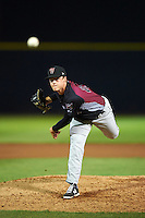 Wisconsin Timber Rattlers pitcher Nathan Kirby (27) delivers a pitch during the second game of a doubleheader against the Quad Cities River Bandits on August 19, 2015 at Modern Woodmen Park in Davenport, Iowa.  Quad Cities defeated Wisconsin 8-1.  (Mike Janes/Four Seam Images)