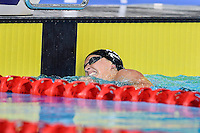 Spohie Pascoe of NZL touches the wall at the conclusion of para-sport 200 meter individual medley SM10 during Commonwealth Games Swimming, Tuesday, July 29, 2014 in Glasgow, United Kingdom. (Mo Khursheed/TFV Media via AP Images)