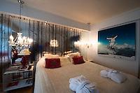 Ladies Floor im Grand Hotel, Zimmer der Skiläuferin Kari Tråå, Oslo, Norwegen