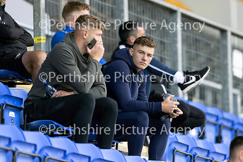 St Johnstone FC…..<br />Callum Hendry (right) and Liam Gordon watch a bounce game<br />Picture by Graeme Hart.<br />Copyright Perthshire Picture Agency<br />Tel: 01738 623350  Mobile: 07990 594431