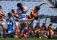 Auckland's Ruahei Demant in action during the Farah Palmer Cup women's rugby union match between Auckland Storm and Waikato at Eden Park in Auckland, New Zealand on Sunday, 18 October 2020. Photo: Dave Lintott / lintottphoto.co.nz