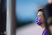 LAKE BUENA VISTA, FL - AUGUST 11: Alex Leitao watching before a game between Orlando City SC and Portland Timbers at ESPN Wide World of Sports on August 11, 2020 in Lake Buena Vista, Florida.