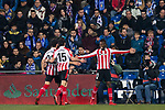 Inaki Williams Arthuer of Athletic Club de Bilbao (R) celebrates after scoring his goal with his teammates during the La Liga 2017-18 match between Getafe CF and Athletic Club at Coliseum Alfonso Perez on 19 January 2018 in Madrid, Spain. Photo by Diego Gonzalez / Power Sport Images