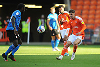 Blackpool's Ethan Robson watches Swindon Town's Anthony Grant<br /> <br /> Photographer Kevin Barnes/CameraSport<br /> <br /> The EFL Sky Bet League One - Blackpool v Swindon Town - Saturday 19th September 2020 - Bloomfield Road - Blackpool<br /> <br /> World Copyright © 2020 CameraSport. All rights reserved. 43 Linden Ave. Countesthorpe. Leicester. England. LE8 5PG - Tel: +44 (0) 116 277 4147 - admin@camerasport.com - www.camerasport.com