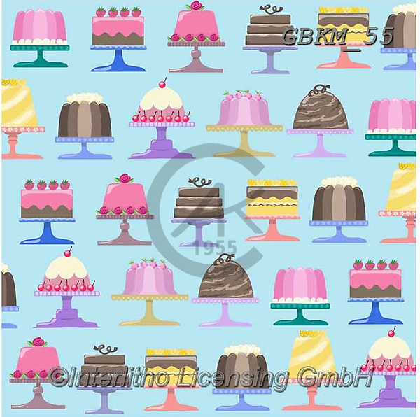 Kate, GIFT WRAPS, GESCHENKPAPIER, PAPEL DE REGALO, paintings+++++Cake stands 4 1,GBKM55,#gp#, EVERYDAY