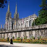 France, Brittany, Départements Finistère, Quimper: Cathedral St. Corentin | Frankreich, Bretagne, Département Finistère, Quimper: Kathedrale  St. Corentin