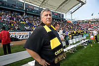 Columbus Head Coach Sigi Schmid during MLS Cup 2008. Columbus Crew defeated the New York Red Bulls, 3-1, Sunday, November 23, 2008. Photo by John Todd/isiphotos.com