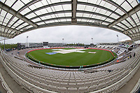 The weather continues to impact the WTC Final, with the covers on as rain falls on day 4 during India vs New Zealand, ICC World Test Championship Final Cricket at The Hampshire Bowl on 21st June 2021
