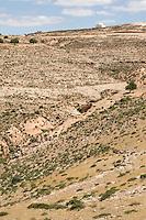 Issabiya, near Garian, Libya - Mausoleum to Muslim holy man.  Arid countryside south of Tripoli, on the Jebel Nafusa.