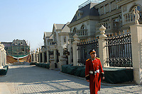 The Palais de Fortune luxury development in Beijing, China. The development consists of 172 luxury mansions selling for over 2 million pounds each. The development is a heaven for China's super-rich terrified of kidnap and murder. The mansions are packed together and will form a dense community of millionaires..05 Jul 2006