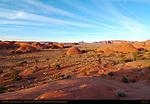 Petrified Dunes at Sunset, Mystery Valley, Monument Valley Navajo Tribal Park, Navajo Nation Reservation, Utah/Arizona Border