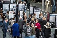 """Die bisher nur in den USA gezeigte Ausstellung """"Einige waren Nachbarn: Taeterschaft, Mitlaeufertum und Widerstand waehrend des Holocaust"""" des United States Holocaust Memorial Museum wurde anlaesslich des Gedenktags fuer die Opfer des Nationalsozialismus, am Donnerstag den 31. Januar 2019, im Paul-Loebe Haus des Deutschen Bundestag vom Bundestagspraesidenten Wolfgang Schaeuble und der Direktorin des Holocaust Memorial Museum, Sara J. Bloomfield eroeffnet. Die Ausstellung wird erstmals in Deutschland praesentiert. Mit ihr wollen die Ausstellungsmacher aufzeigen, welche Beweggruende und Druckmittel die Entscheidungen und Verhaltensweisen einzelner Menschen waehrend des Holocausts beeinflussten und wie die Menschen auf die Noete ihrer juedischen Klassenkameraden, Kollegen, Nachbarn und Freunde reagierten.<br /> 31.1.2019, Berlin<br /> Copyright: Christian-Ditsch.de<br /> [Inhaltsveraendernde Manipulation des Fotos nur nach ausdruecklicher Genehmigung des Fotografen. Vereinbarungen ueber Abtretung von Persoenlichkeitsrechten/Model Release der abgebildeten Person/Personen liegen nicht vor. NO MODEL RELEASE! Nur fuer Redaktionelle Zwecke. Don't publish without copyright Christian-Ditsch.de, Veroeffentlichung nur mit Fotografennennung, sowie gegen Honorar, MwSt. und Beleg. Konto: I N G - D i B a, IBAN DE58500105175400192269, BIC INGDDEFFXXX, Kontakt: post@christian-ditsch.de<br /> Bei der Bearbeitung der Dateiinformationen darf die Urheberkennzeichnung in den EXIF- und  IPTC-Daten nicht entfernt werden, diese sind in digitalen Medien nach §95c UrhG rechtlich geschuetzt. Der Urhebervermerk wird gemaess §13 UrhG verlangt.]"""