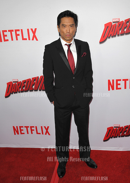 """Peter Shinkoda at the premiere of Netflix series """"Marvel's Daredevil"""" at the Regal Cinemas LA Live.<br /> April 2, 2015  Los Angeles, CA<br /> Picture: Paul Smith / Featureflash"""