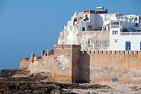 Essaouira, Morocco.  Seaside Ramparts, Town Wall.