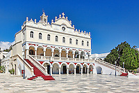 The famous monastery of miraculous Evagelistria in Tinos island, Greece
