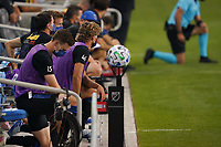 SAN JOSE, CA - SEPTEMBER 5: Colorado Rapids bench before a game between Colorado Rapids and San Jose Earthquakes at Earthquakes Stadium on September 5, 2020 in San Jose, California.
