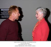 "©2001 KATHY HUTCHINS / HUTCHINS PHOTO.""THE OTHER HALF"".LOS ANGELES,CA. 10/05/01. DANNY BONADUCE, AND SHIRLEY JONES"