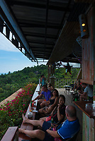 People drink in Samui island observation deck, Thailand
