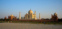 The Taj Mahal view from the back with the river