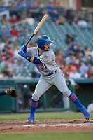 Amarillo Sod Poodles Luis Torrens (21) bats during a Texas League game against the Frisco RoughRiders on May 16, 2019 at Dr Pepper Ballpark in Frisco, Texas.  (Mike Augustin/Four Seam Images)